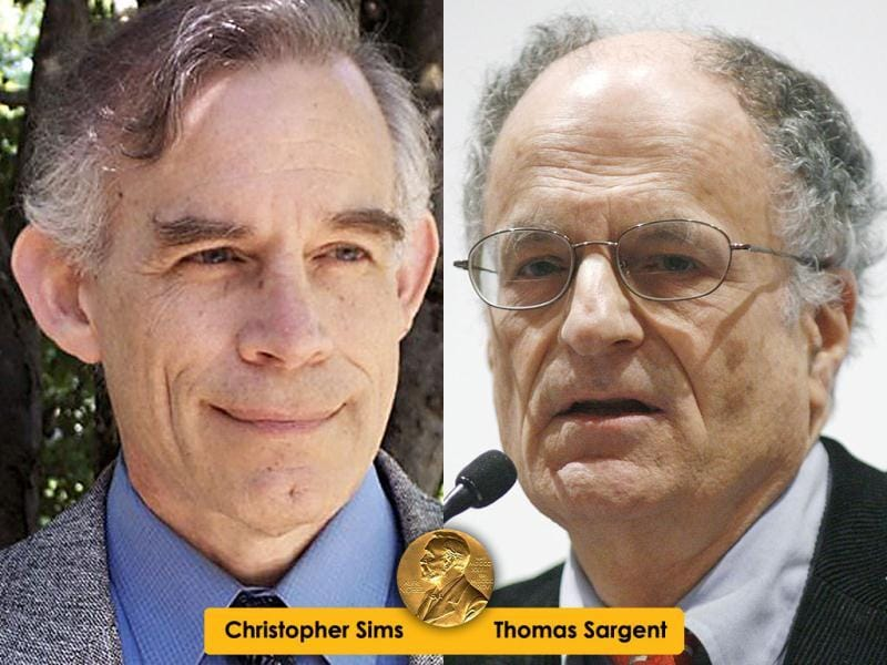 2011 Nobel Prize in economics was awarded jointly to Thomas J. Sargent and Christopher A. Sims