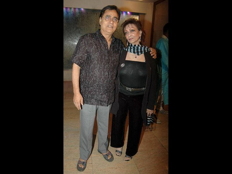Jagjit Singh with wife Chitra.