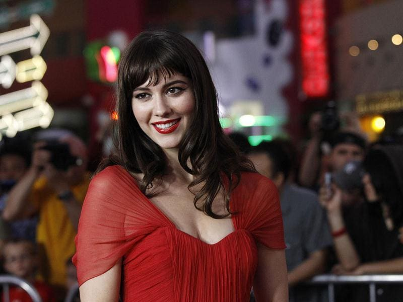 Cast member Mary Elizabeth Winstead poses at the world premiere of The Thing at Universal Studios Hollywood in Universal City, California.