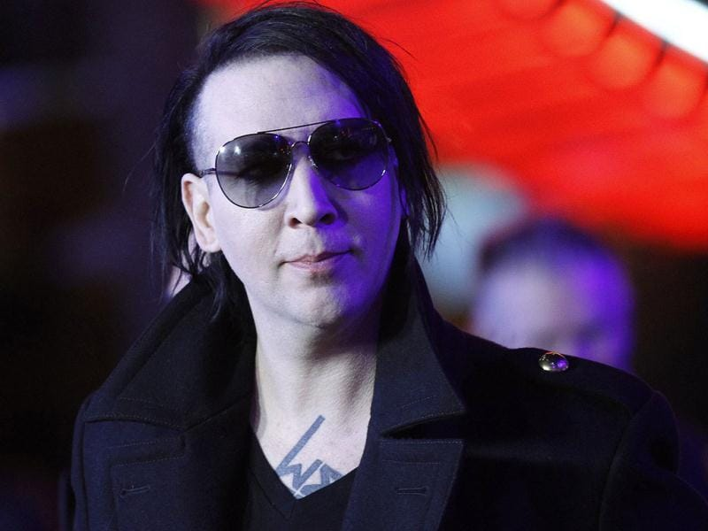 Musician Marilyn Manson attends the world premiere of The Thing at Universal Studios Hollywood in Universal City, California.