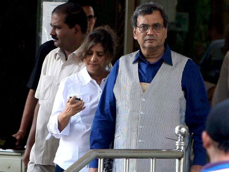 Director Subhash Ghai arrives at Lilavati Hospital after learning of the tragedy.