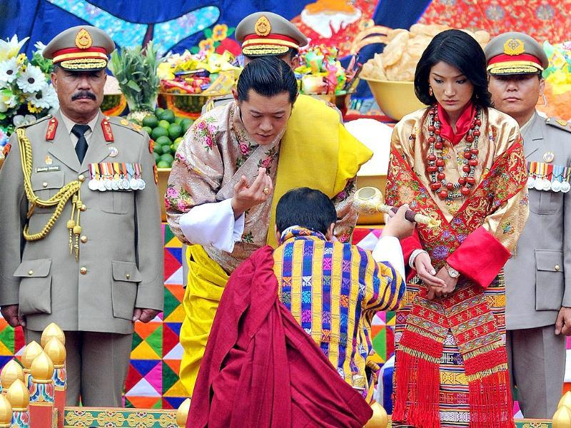 Bhutan's 31-year-old king marries a student 10 years his junior on October 13 in an isolated valley high in the Himalayas where thousands of nomads and villagers have gathered to celebrate.