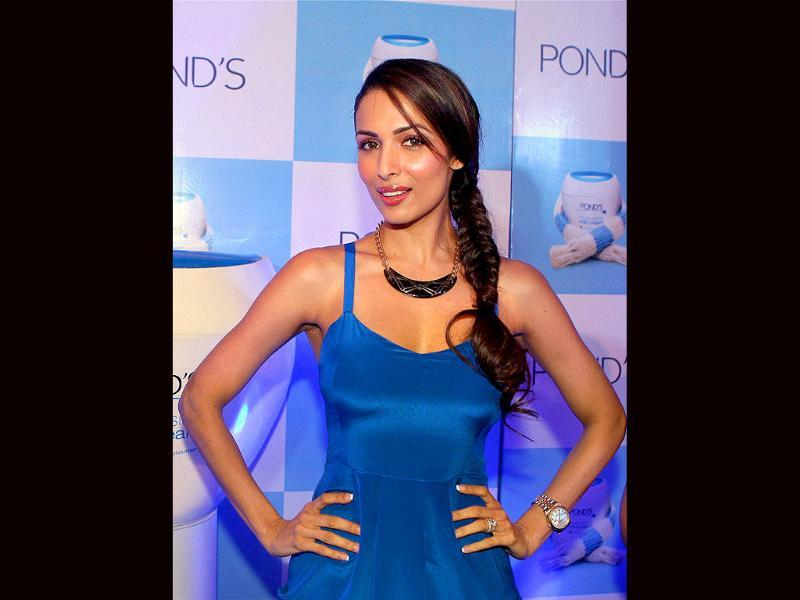 Bollywood actor Malaika Arora Khan at a promotional event in New Delhi.