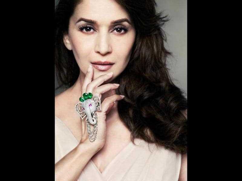 Madhuri looks like perfection personified.