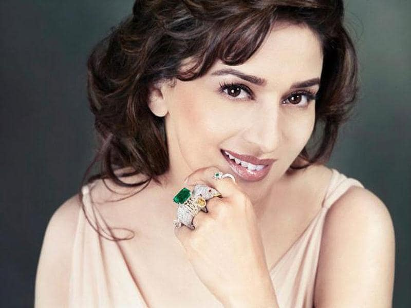 Madhuri still can carry off anything, even that huge chunky ring!