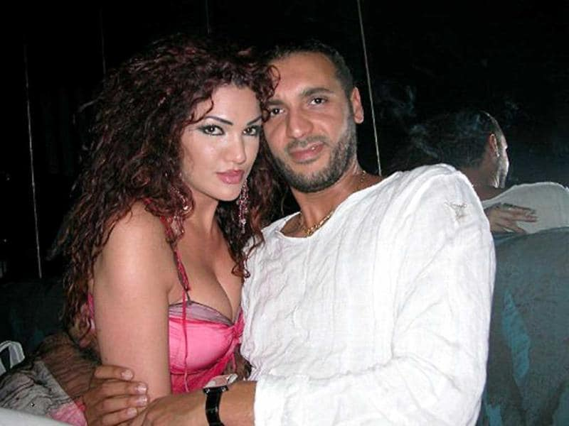 An undated picture allegedly found in the personal laptop of Hannibal Gaddafi, son of Muammar Gaddafi, and released by Libyan National Transitional Council fighters shows him and his Lebanese wife Aline Skaff getting cosy at a restaurant in Tunis.