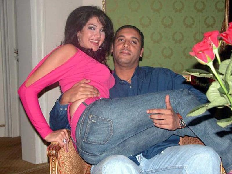 An undated picture allegedly found in the personal laptop of Hannibal Gaddafi, son of ousted Libyan leader Muammar Gaddafi, and released by Libyan National Transitional Council fighters shows him and his wife Aline Skaff at an unknown location.
