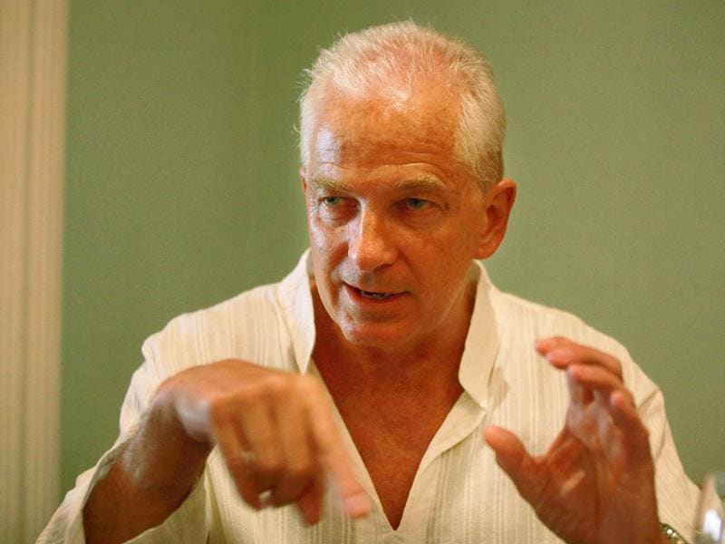 Former England cricket team captain David Gower at Taj Mahal hotel in Mumbai. (Photo: Hemant Padalkar/HT)