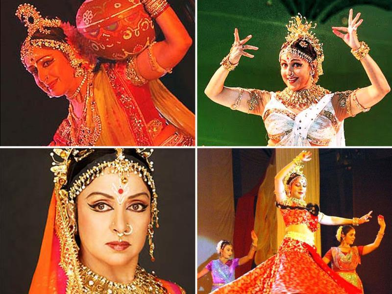 Hema Malini is a trained Bharatanatyam artist, a classical dance of India. Her daughters are well trained in the same dance form; the three have performed together at charity dance concerts.