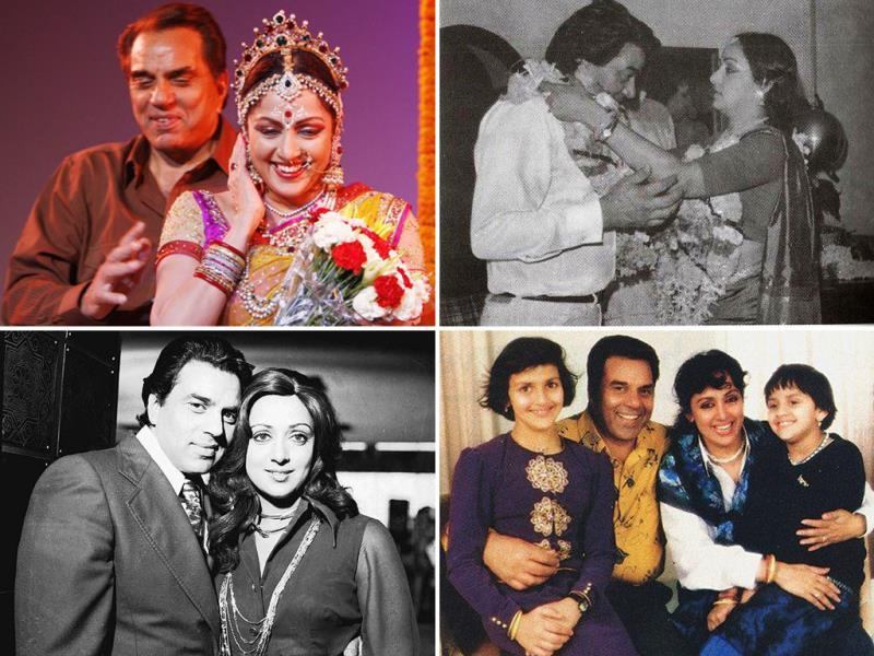 Hema fell in love with her co-star Dharmendra during the filming of Sholay. She eventually married him in 1980. Before they married, they both converted to Islam, since Dharmendra was already married to Prakash Kaur.