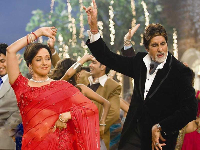 Hema Malini's jodi and Amitabh Bachchan was much-appreciated by audience in Baghbaan.