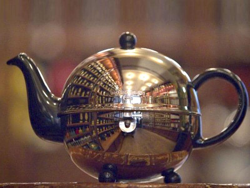Picture of a tea pot taken at the French luxury Tea House, Mariage Freres, in Le Marais area, central Paris. Mariage Freres sell 654 high quality teas grown in 35 different countries.
