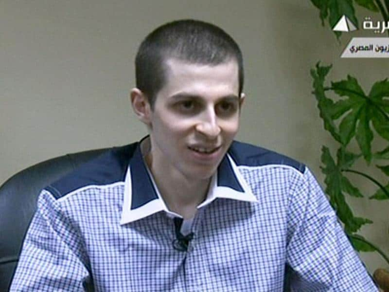 An TV grab taken from Egyptian state TV shows Israeli soldier Gilad Shalit speaking during an interview at an undisclosed location in Egypt.