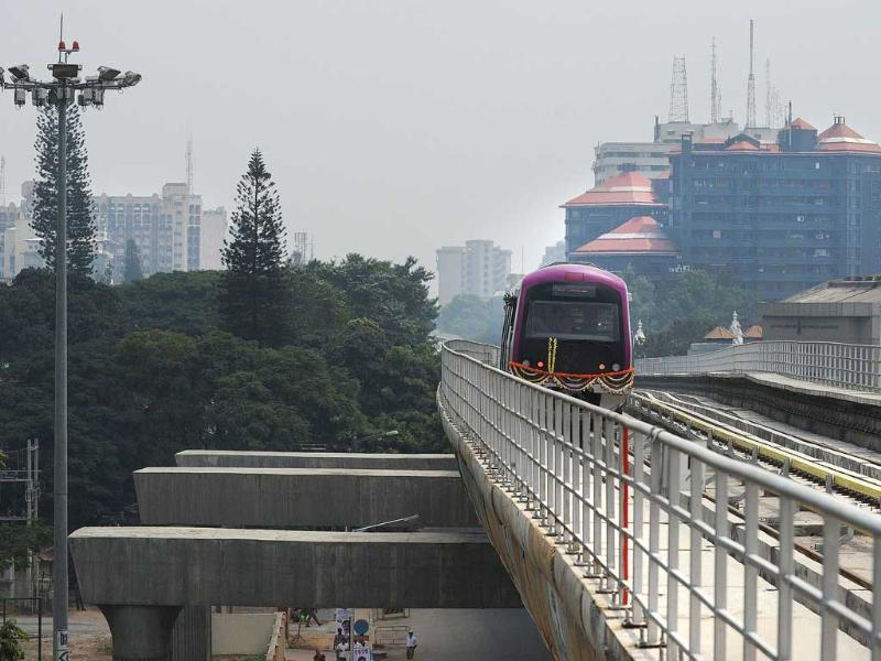 The Bangalore Metro was flagged off by Union urban development minister Kamal Nath. (AFP)
