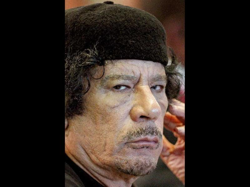 Libya's leader Muammar Gaddafi attends the Food and Agriculture Organisation (FAO) Food Security Summit in Rome. (Files)