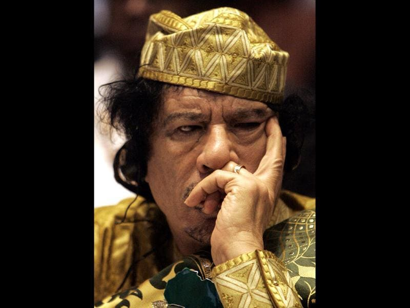 Libyan leader Muammar Gaddafi listens during the opening session of the 12th African Union Summit in Ethiopia's capital Addis Ababa. (Files)