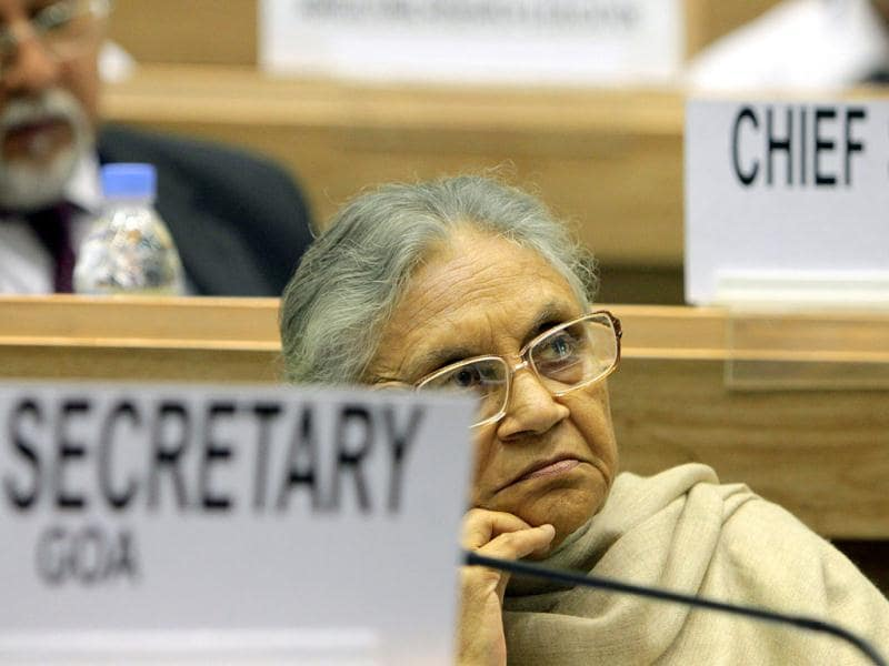 Delhi chief minister Sheila Dikshit during the inauguration of the 56th meeting of the National Development Council (NDC) in New Delhi. (HT Photo/Sunil Saxena)