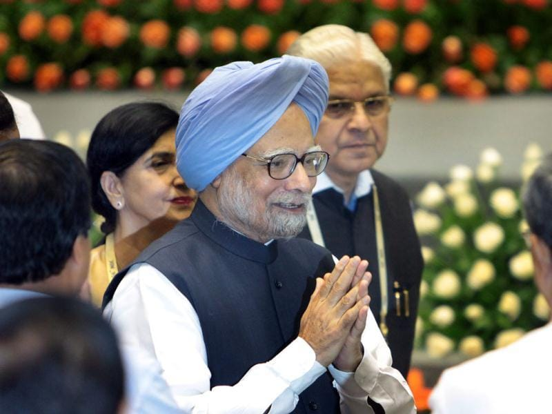 Prime Minister Manmohan Singh during the inauguration of the 56th meeting of The National Development Council (NDC) in New Delhi. (HT Photo/Sunil Saxena)