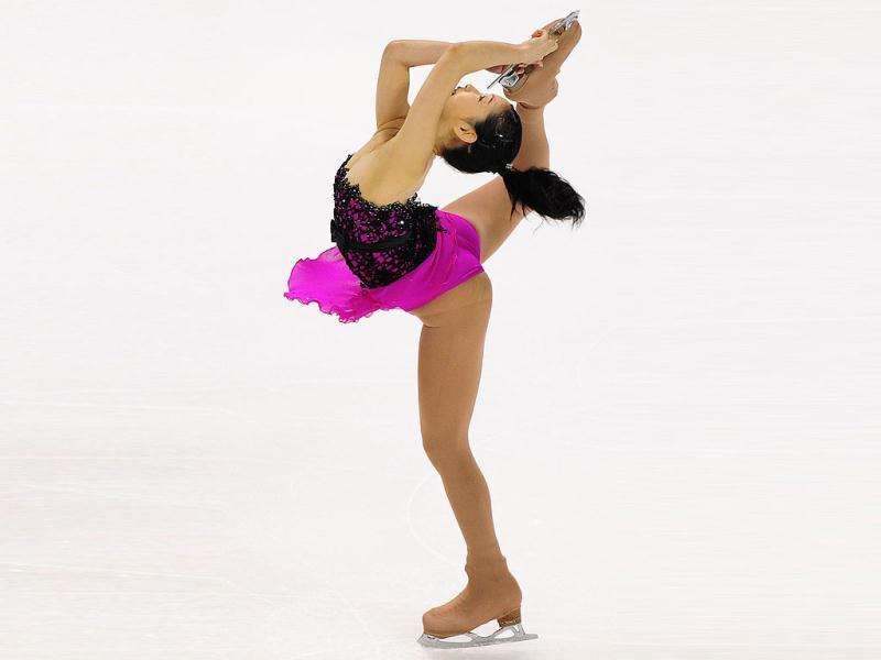 Haruka Imai of Japan performs during the Ladies Free Skate competition at the Citizens Business Bank Arena in Ontario, California, during the 2011 ISU Grand Prix of Figure Skating competition.