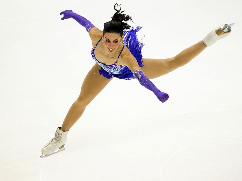Valentina Marchei of Italy performs during the Ladies Free Skate competition at the Citizens Business Bank Arena in Ontario, California, during the 2011 ISU Grand Prix of Figure Skating competition.
