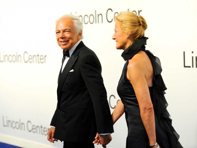 Fashion designer Ralph Lauren, left, and wife Ricky Lauren attend