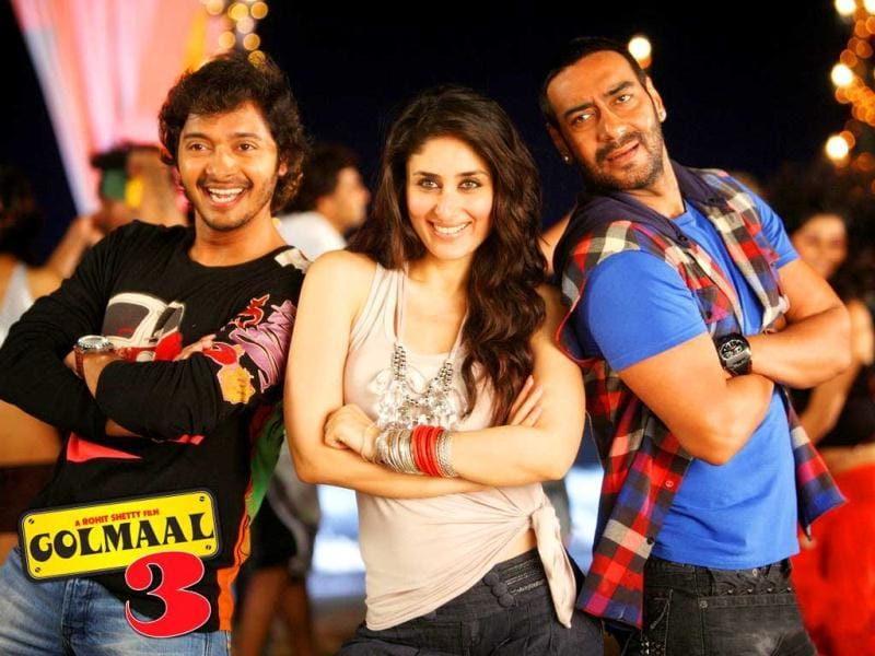 2010: Rohit Shetty's Golmaal 3 ensured full entertainment to audience in Diwali.