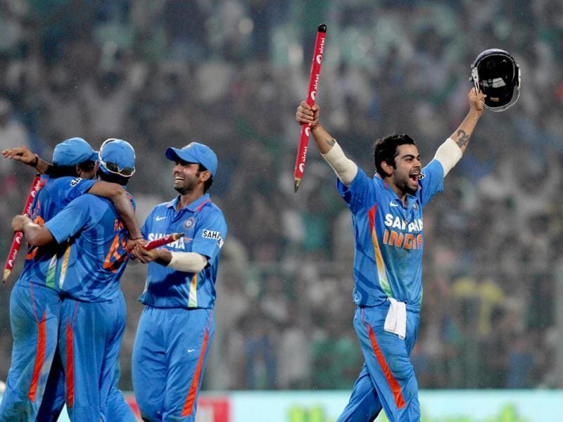 India have won the 5th ODI against England, clinching the series 5-0 (HT Photo/Ashok Nath Dey)