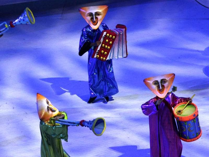 Actors perform during the closing ceremony of the Pan American Games in Guadalajara, Mexico.
