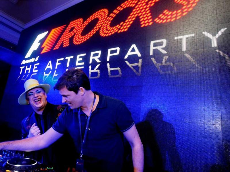 Boy George at the Formula One afterparty held at Taj Palace Hotel in New Delhi