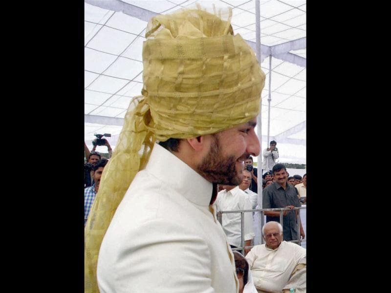 Saif Ali Khan who's also known as Chhote Nawab is anointed the tenth Nawab of Pataudi at a ceremony at his ancestral palace.