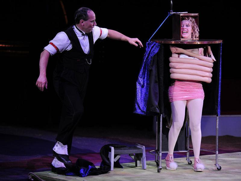 Scott and Muriel perform, during a Big Apple Circus show in New York.