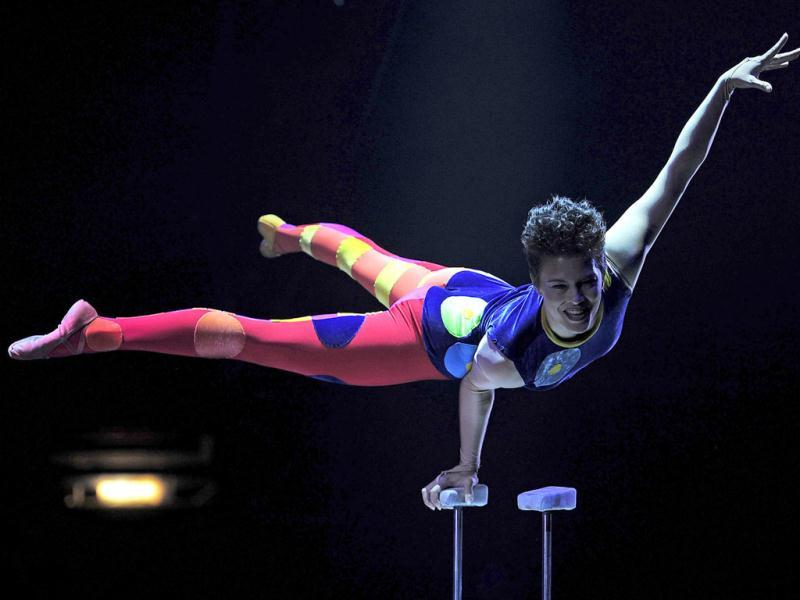 Melanie Chy performs during a Big Apple Circus show in New York.