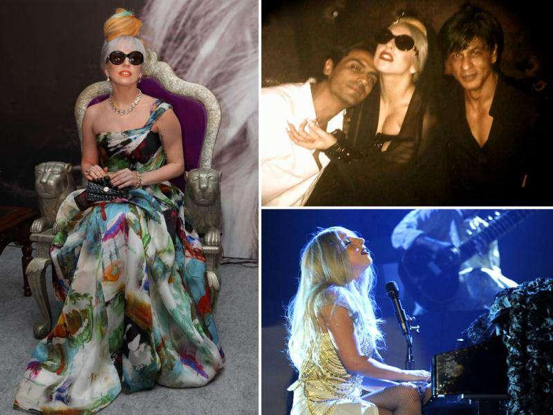 From the day of her arrival in India to her musical performance at the F1 party, to her cosying up with Shah Rukh Khan and Arjun Rampal and even shopping at Dilli Haat, Lady Gaga has certainly been the talk of the town. Check out the diva as she wooed India.