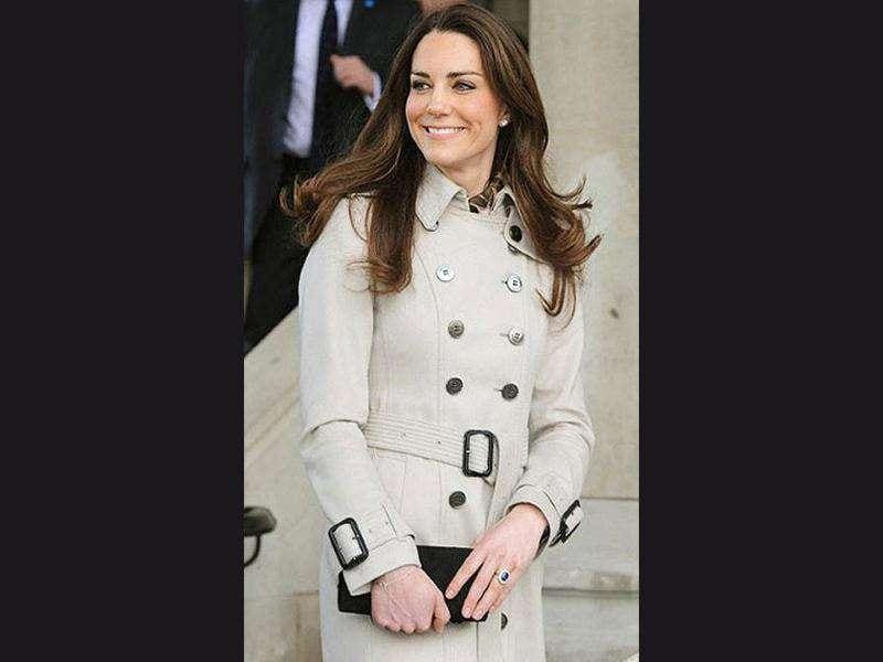 Kate Middleton looks style personified in a beige overcoat.
