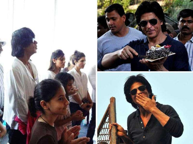 The actor has been making news for a while now, whether it be RA.One or his birthday. Post film release, the Shah Rukh Khan finally seems less stressed as he prays with family and greets the many fans who came to wish him. Here's a dekko...