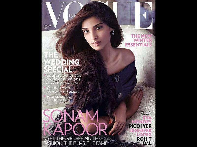 Sonam Kapoor has made it to the fashion covers, yet again. And this time it's for the Indian edition of Vogue magazine. Here's a look at more Bollywood beauties and bachelors who are splashed all over the covers of leading magazines. For more updates and gossip follow us @htShowbiz
