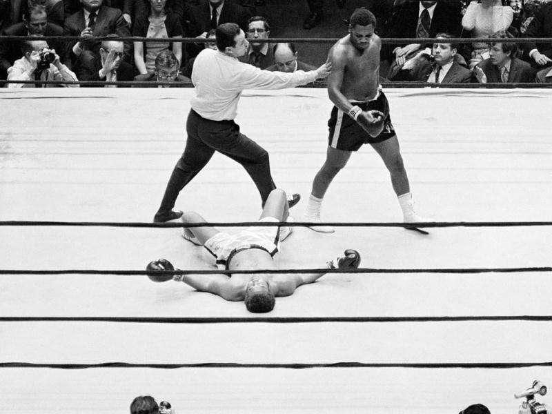 File photo of Joe Frazier and Jimmy Ellis in a boxing match. (AP Photo/File)