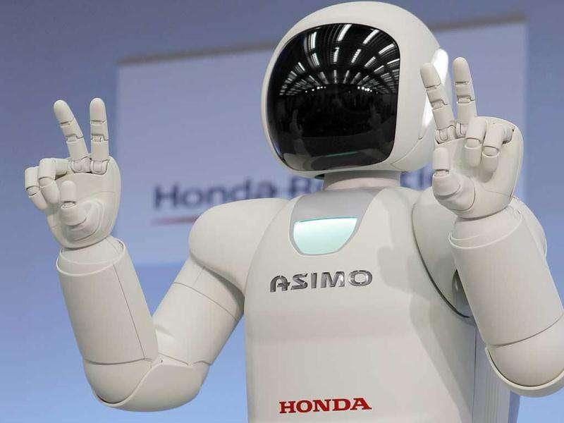 Honda Motor Co.'s revamped human-shaped robot