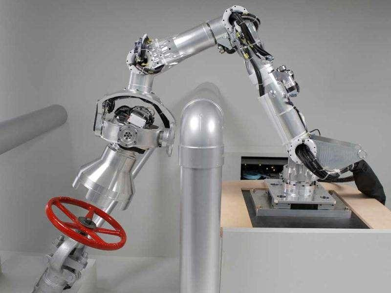 A robotic arm, being developed with Honda Motor Co.'s human-shaped robot