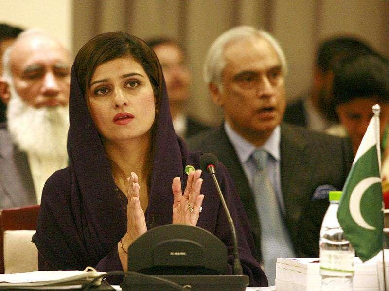 Pakistan's Foreign Minister Hina Rabbani Khar claps during the Saarc countries foreign ministers meeting.