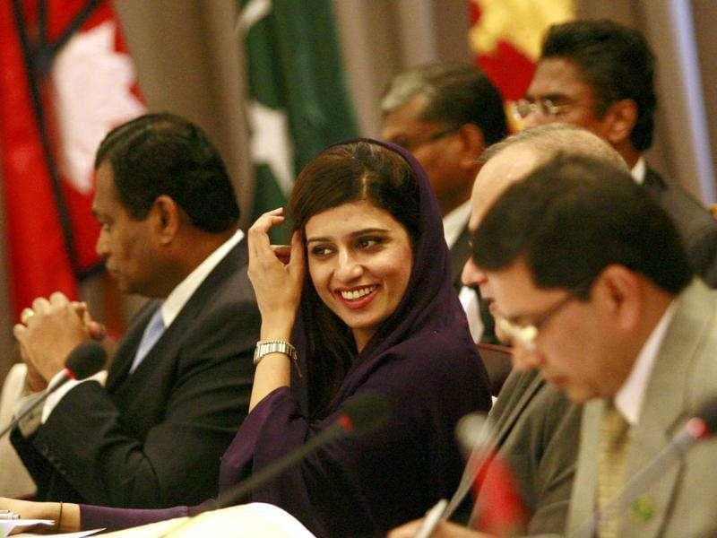 Pakistan's Foreign Minister Hina Rabbani Khar attends the Saarc countries foreign ministers meeting in Addu.
