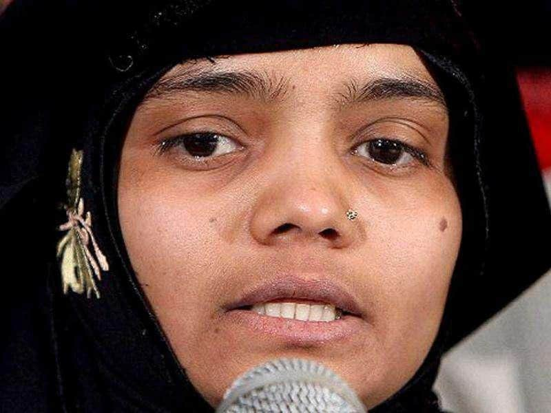 (File) Bilkis Yakub Rasool, a housewife who was gangraped during the 2002 Gujarat riots, addresses a media conference in New Delhi, 21 January 2008. The Bilkis Bano gang-rape case, the judgement of which was delivered in Mumbai 18 January 2008, was unique as the conviction of the 12 accused was based solely on the victim's deposition, counsel in the case said. AFP PHOTO/ Manan Vatsyayana