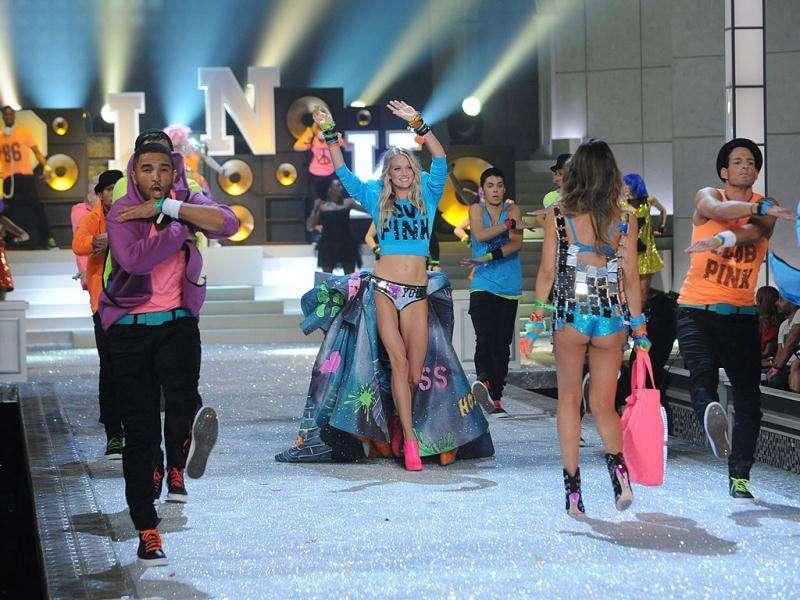 Models walk the runway during the Victoria's Secret fashion show in New York, Wednesday. (AP Photo)