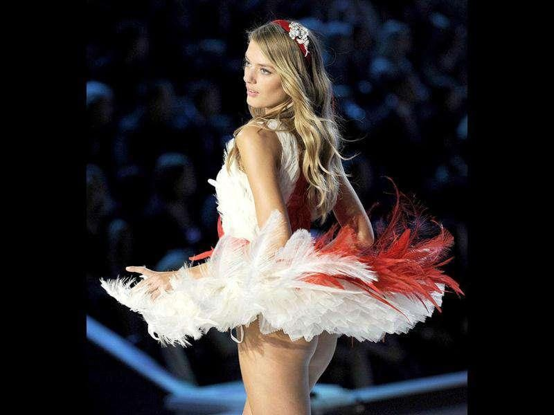 A model strutting her stuff during the Victoria's Secret Fashion Show. (AFP)