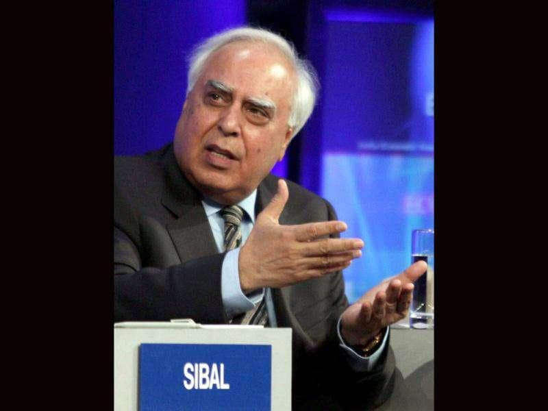 Kapil Sibal, minister of human Resource development and communication and information technology of India during the India Economic Summit in Mumbai.