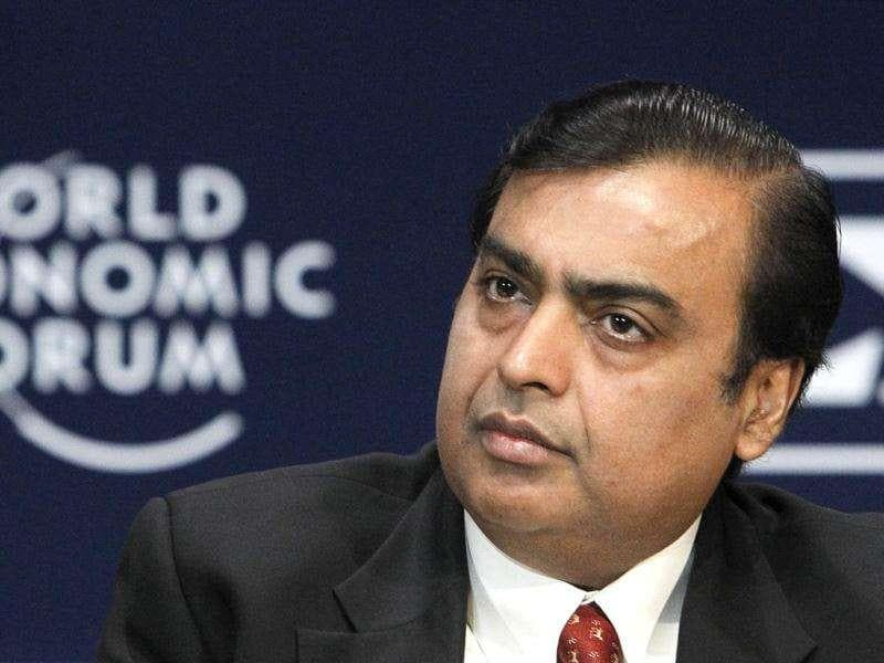 Chairman and managing director of Reliance Industries Mukesh Ambani attends the opening plenary session of the World Economic Forum (WEF) India Economic Summit in Mumbai.