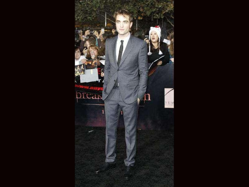 Robert Pattinson, the lovable vampire, poses at the premiere of The Twilight Saga: Breaking Dawn - Part 1. (Reuters/Mario Anzuoni)