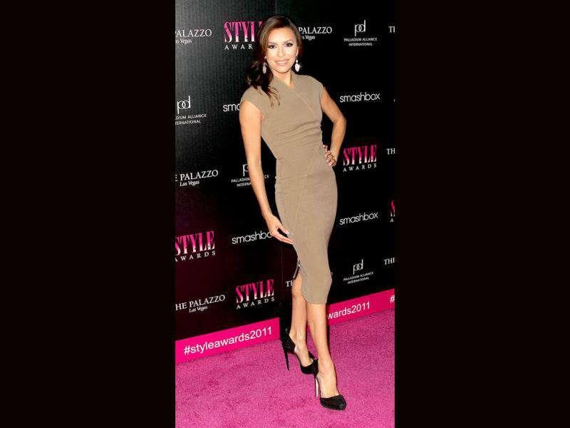 Actor Eva Longoria was just one of the stylish celebrities presenting an award at the 2011 Hollywood Style Awards.