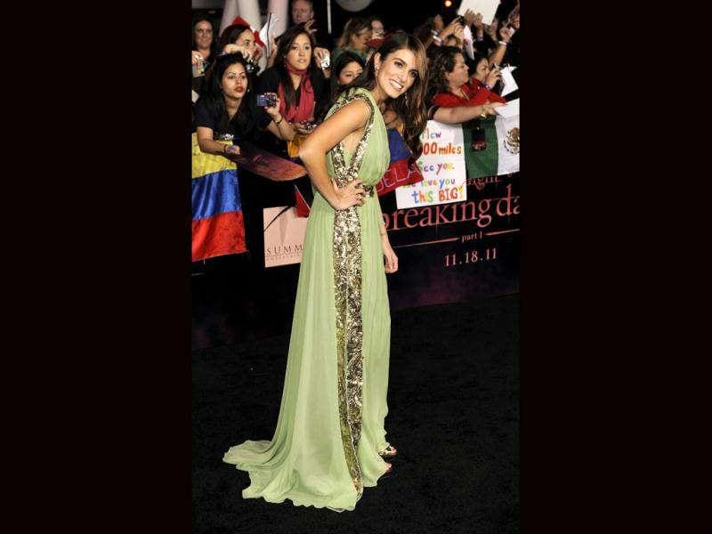 Nikki Reed arrives to the world premiere of The Twilight Saga: Breaking Dawn - Part 1. (AP Photo/Chris Pizzello)