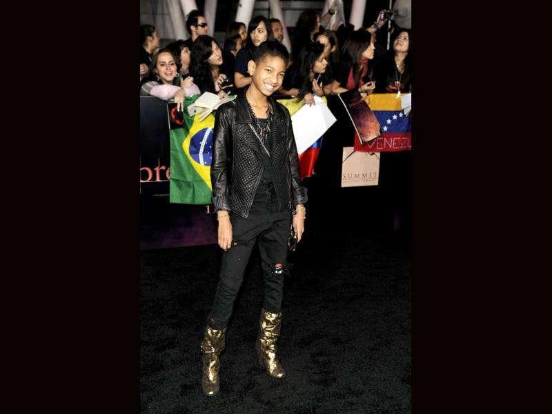 Willow Smith arrives at the world premiere of The Twilight Saga: Breaking Dawn - Part 1. (AP Photo/Chris Pizzello)